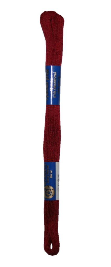 Stickgarn Stickfaden Norma 100% Baumwolle 15 m dunkelrot (3392)