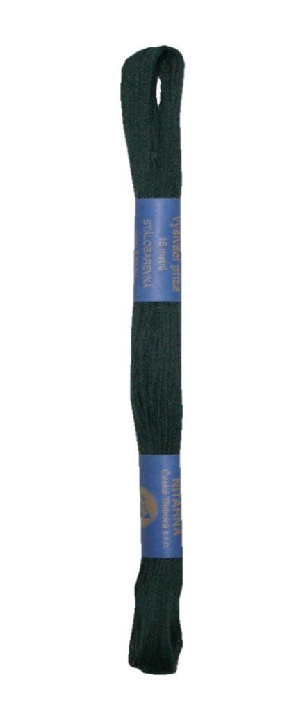 Stickgarn Stickfaden Norma 100% Baumwolle 15 m grau schwarz (6992)