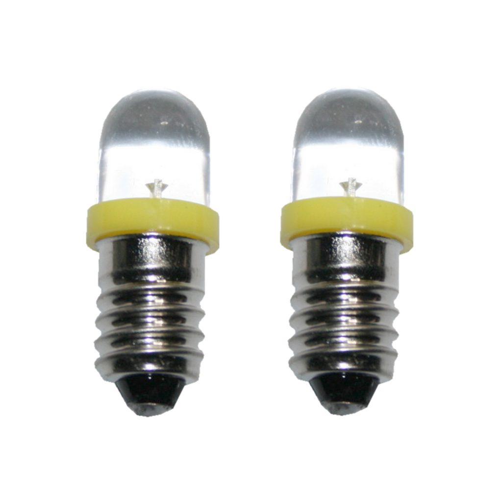 LED Glühlampe Glühbirne E10 3V gelb 2 Stück (8009)