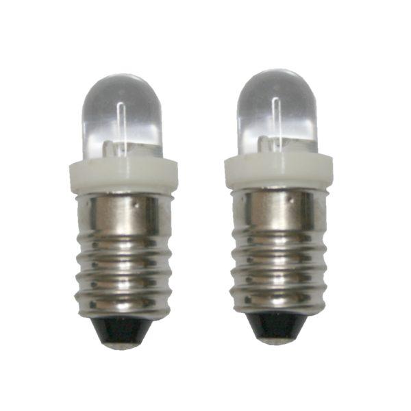 LED Glühlampe Glühbirne E10 24V weiß 2 Stück (8016)