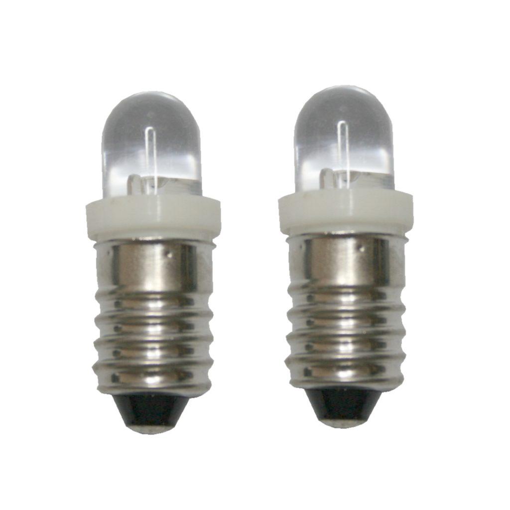 LED Glühlampe Glühbirne E10 4,5V weiß 2 Stück (8017)