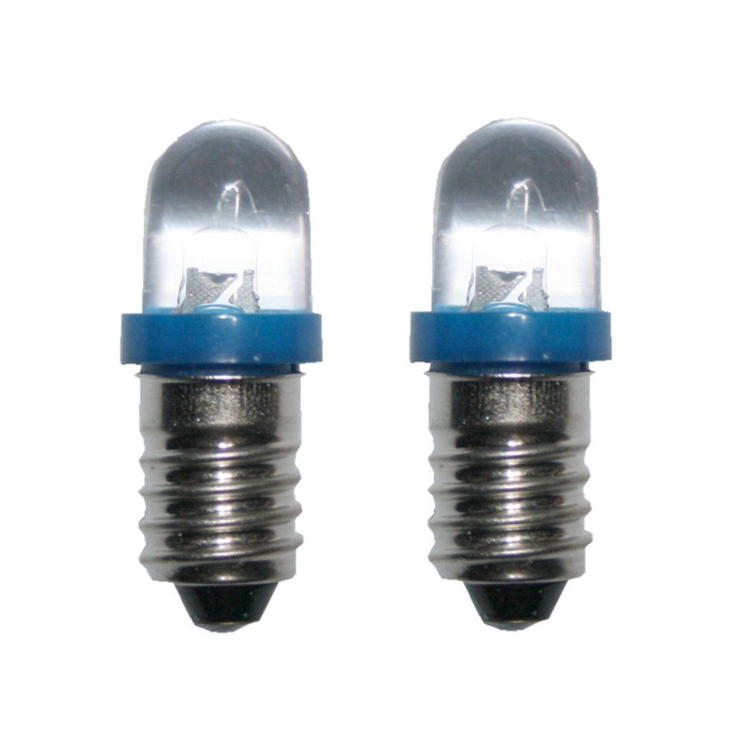 LED Glühlampe Glühbirne E10 6V blau 2 Stück (8022)