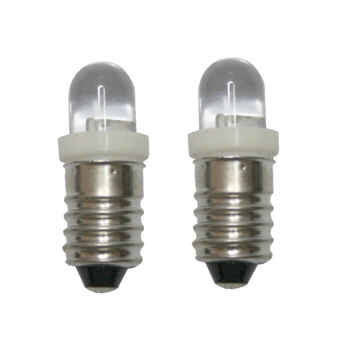 LED Glühlampe Glühbirne E10 6V weiß 2 Stück (8219)
