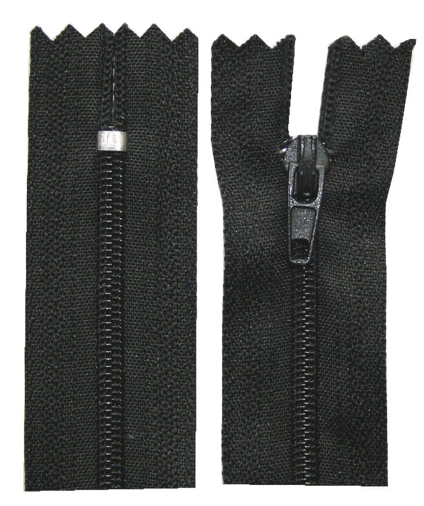 Reißverschluss 20 cm spiralformig nicht trennbar schwarz (2001)
