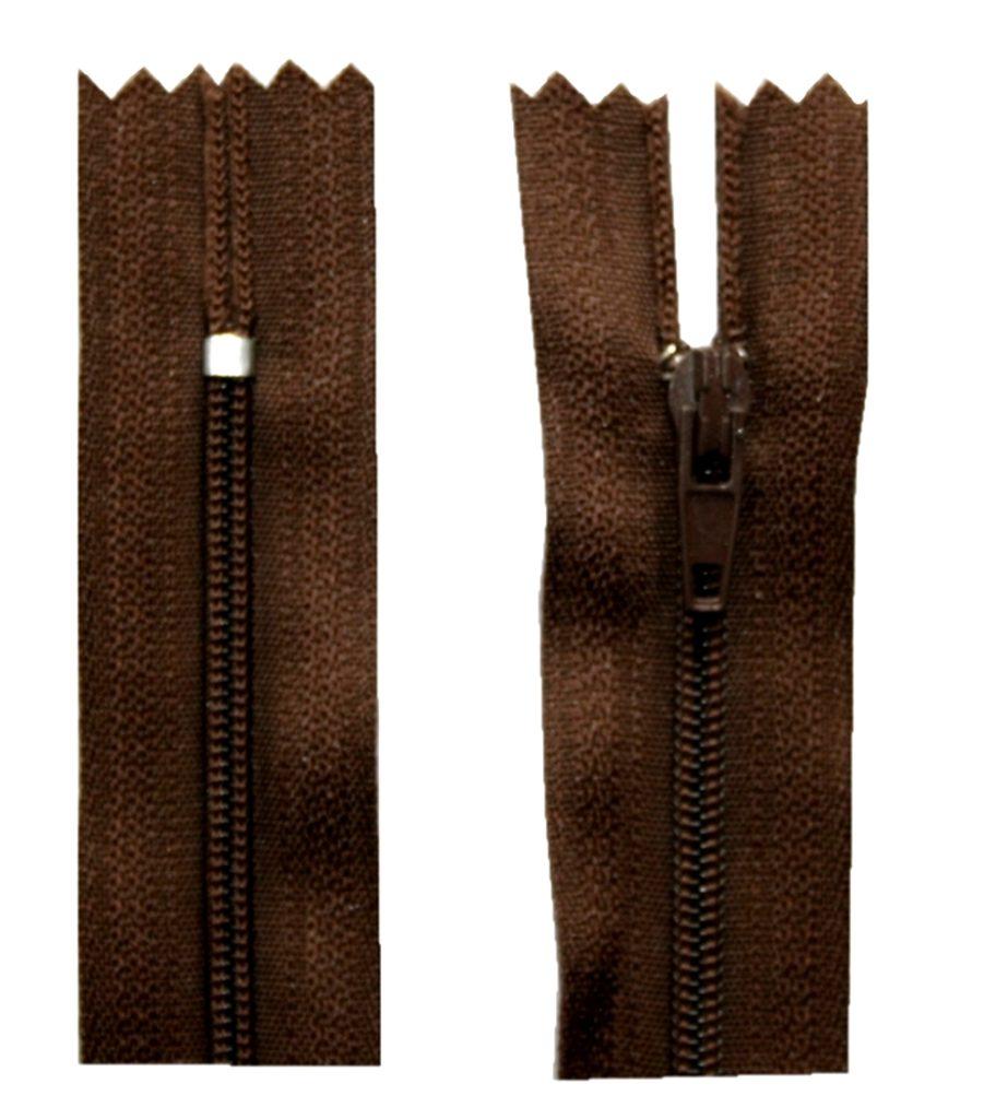 Reißverschluss 20 cm spiralformig nicht trennbar braun (2006)