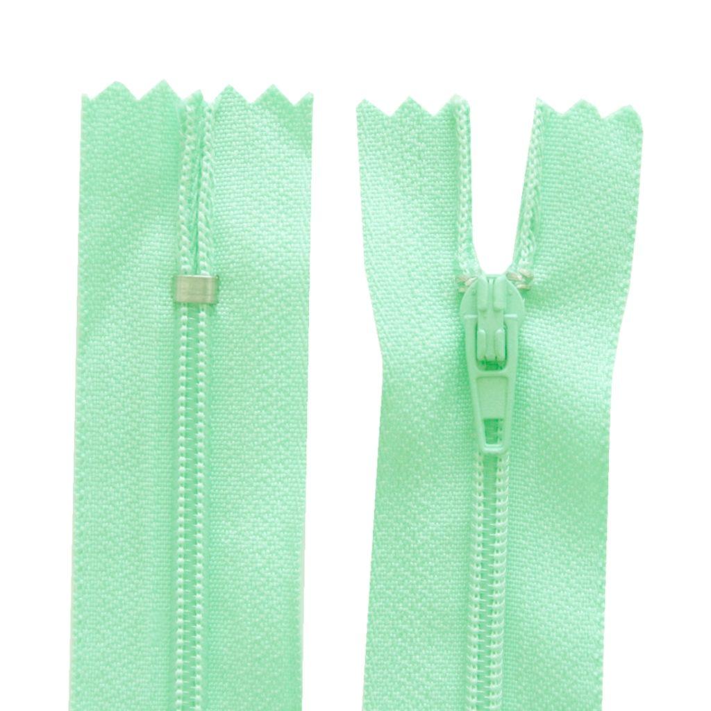 Reißverschluss 20 cm spiralformig nicht trennbar mint grün (2022)