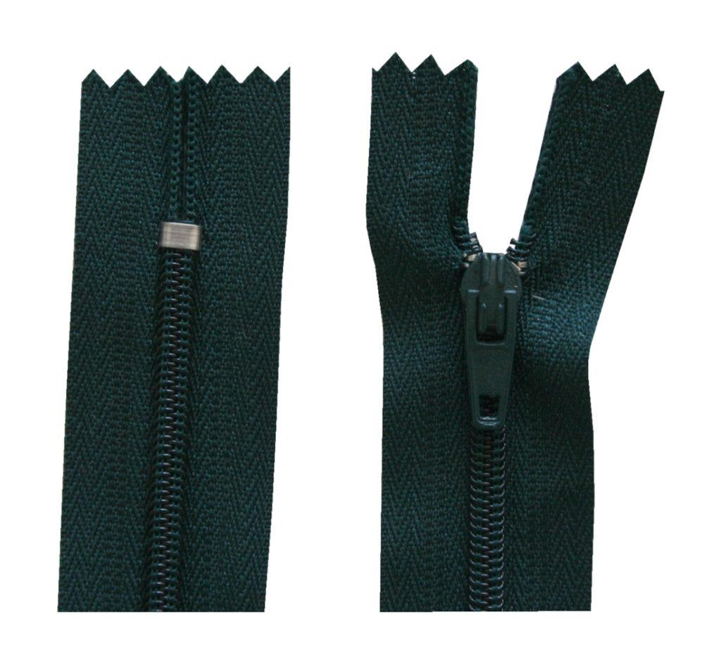 Reißverschluss 20 cm spiralförmig nicht trennbar dunkelgrün (2029)