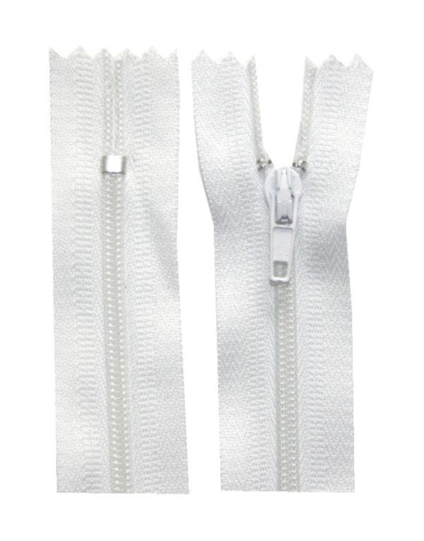 Reißverschluss 30 cm spiralformig nicht trennbar weiß (3000)