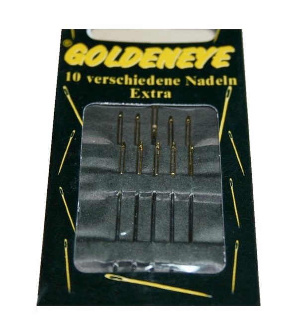Nähnadeln Sticknadeln-Set extra großem Goldöhr nickelfrei 10-teilig (1000)