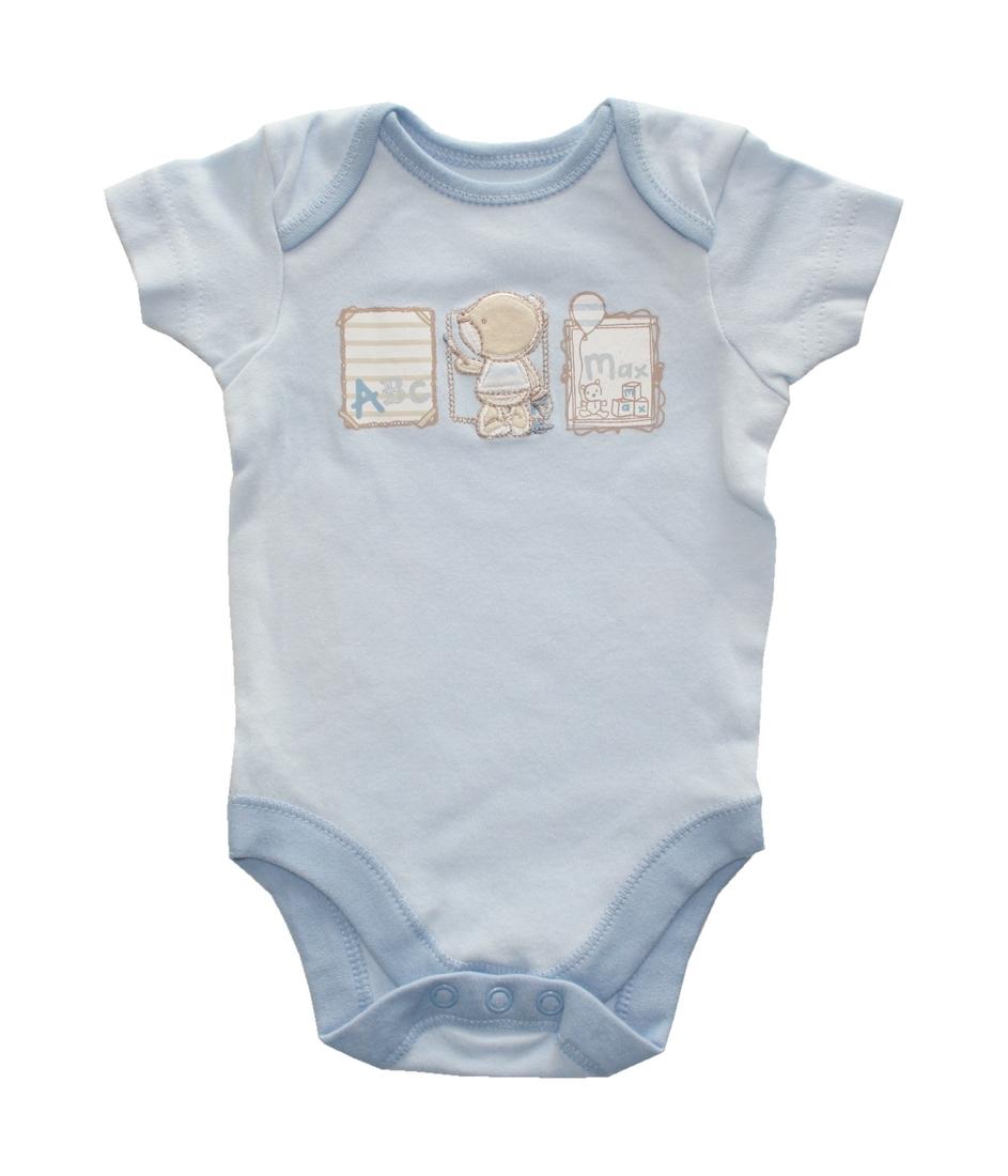 Baby Body Babybody kurzarm blau 50 / 56 (0113)