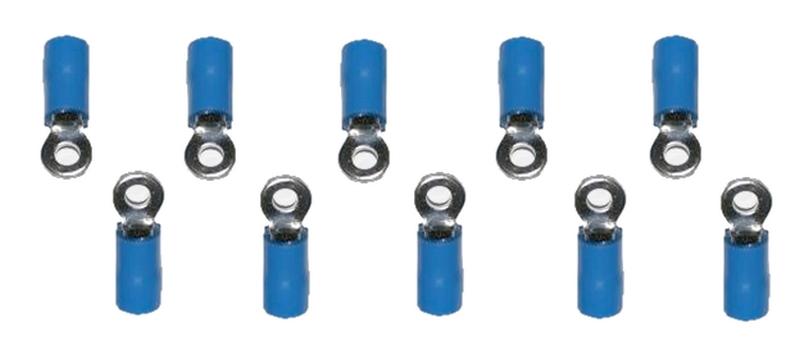 Ringstecker Steckverbinder Stecker RV1.25-3 blau 3,2mm 10 Stück (0007)