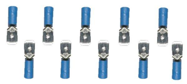 Flachstecker Steckverbinder Stecker blau 6,3mm MDD2-250 10 Stück (0013)