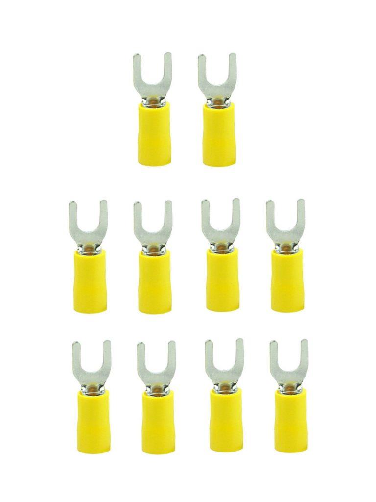 Gabelstecker Steckverbinder Stecker SV5,5-5 gelb M5 6mm2 10 Stück (0046)