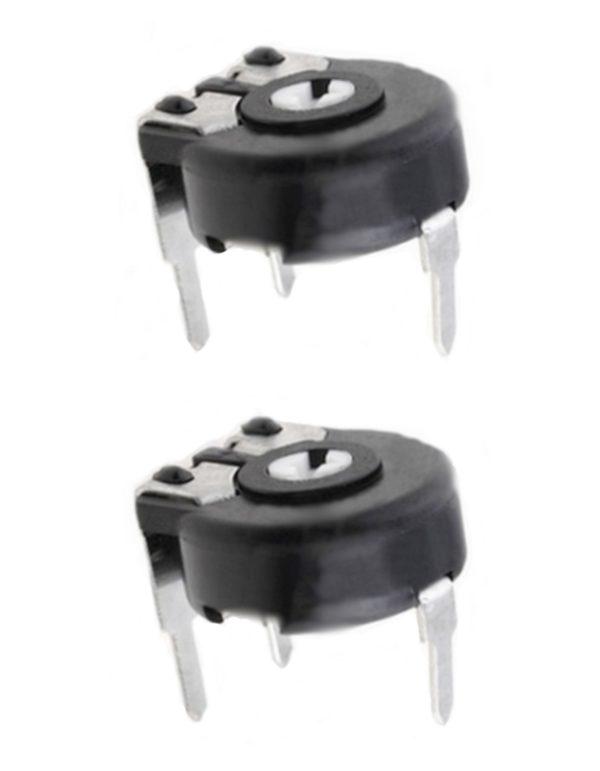 Potentiometer PT-10 Trimmer 500 Ohm horizontal liegend 2 Stück (0005)