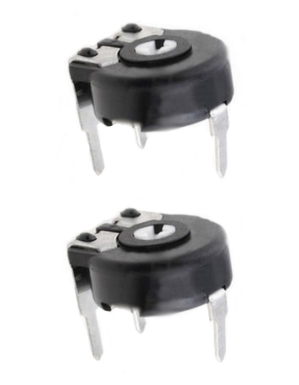Potentiometer PT-10 Trimmer 1 MOhm 150mW horizontal liegend 2 Stück (0029)