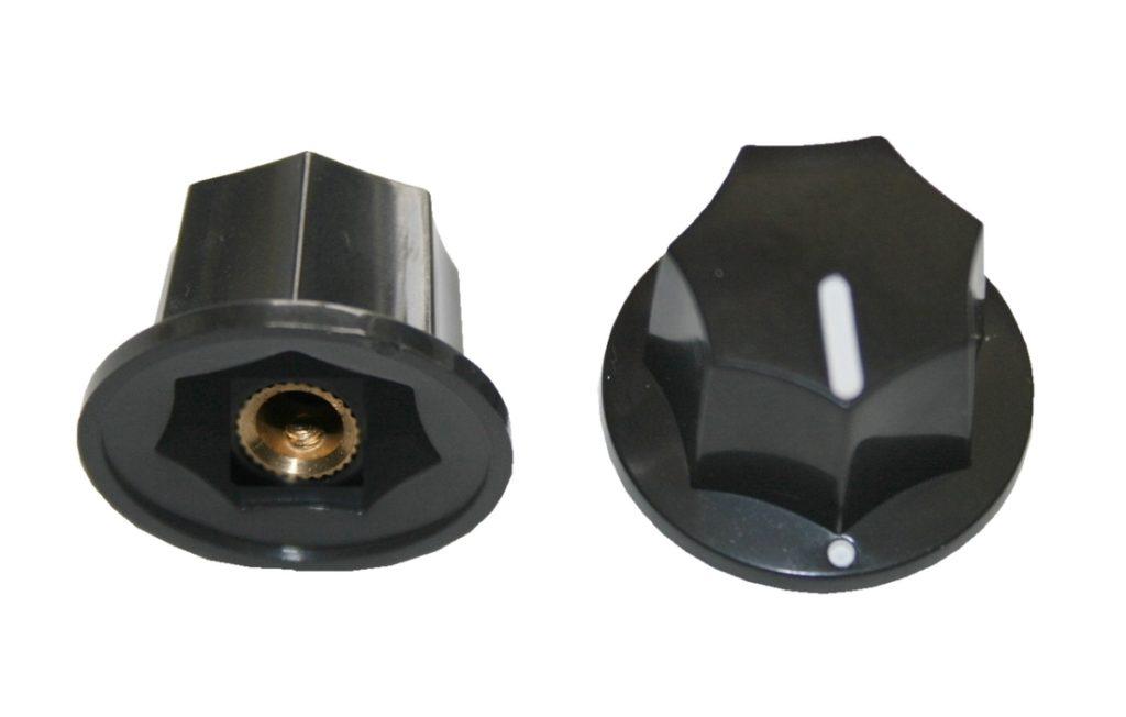 Drehknopf Geräteknopf Potiknopf 6mm schwarz 1 Stück (0052)
