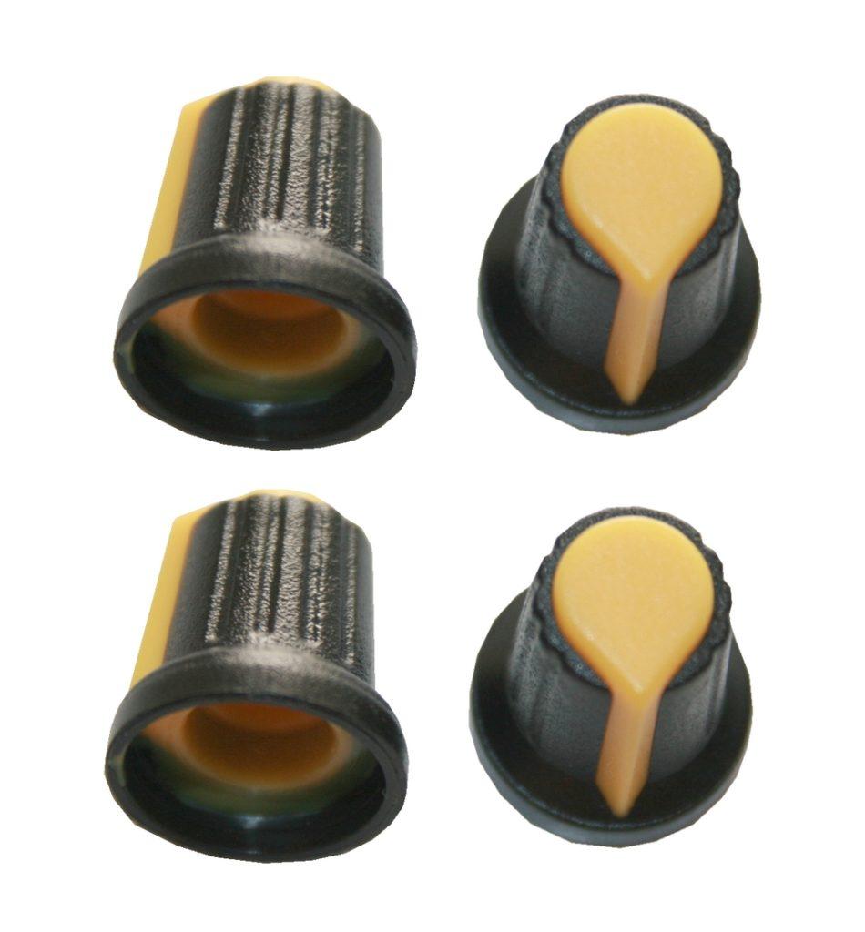 Drehknopf Geräteknopf Potiknopf 6mm gelb 4 Stück (0053)