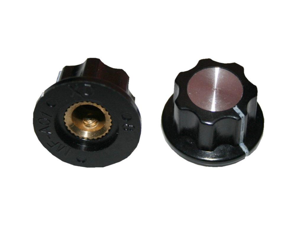 Drehknopf Geräteknopf Potiknopf MF-A02 23mm 6mm Achse schwarz 2 Stück (0058)