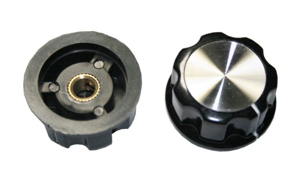 Drehknopf Geräteknopf Potiknopf MF-A04 33mm 6mm Achse schwarz 1 Stück (0060)