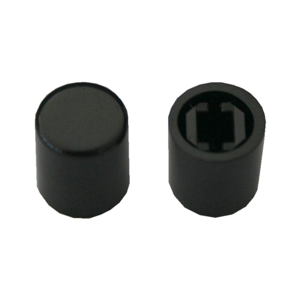 Schalterkappe Gerätekappe Schalterknopf A03 Kappe Schwarz 2 Stück (0064)