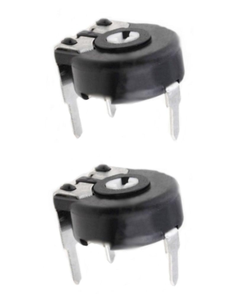 Potentiometer PT-6 Trimmer 470 kOhm 100mW horizontal liegend 2 Stück (0075)
