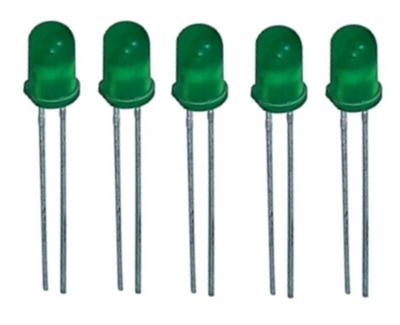 LED Leuchtdiode 5 mm grün 5 Stück (0005)