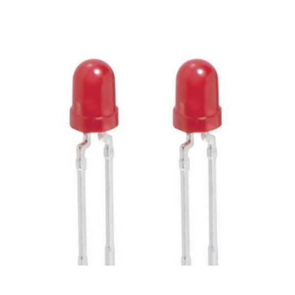 Blink LED 3mm rot selbstblinkend 12-20 mcd 60° 2 Stück (0009)