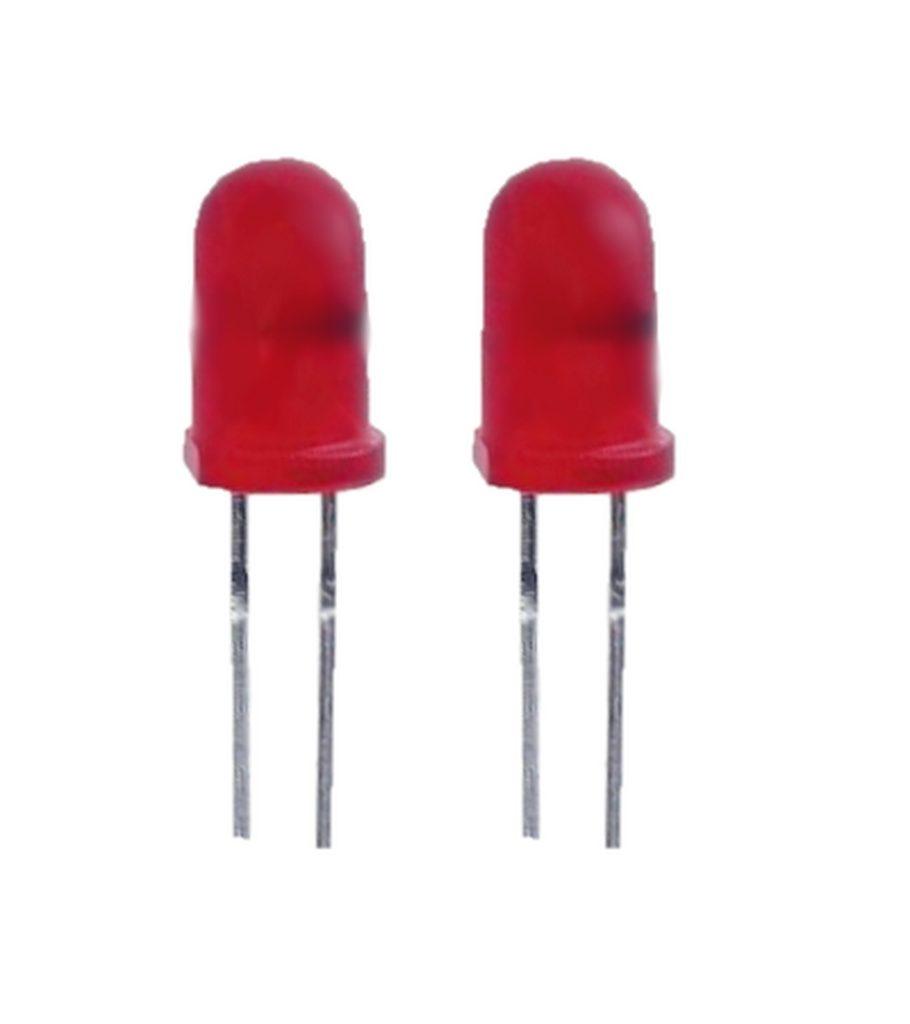 Blink LED 5mm rot selbstblinkend 100-300 mcd 60° 2 Stück (0012)