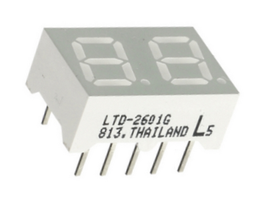 LED-Anzeige 7-Segment-Anzeige LTD-2601G 2Digit grün (0024)