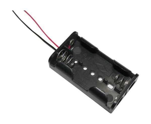 Batteriehalter Halter 2xAA Mignon mit Kabel 150mm (0060)