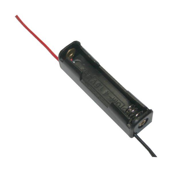 Batteriehalter Halter 1xAAA Micro mit Kabel 130mm (0062)