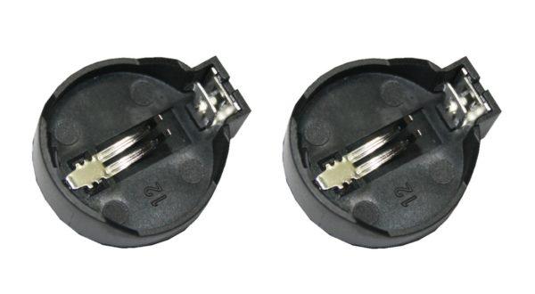 CR2032 Batteriehalter Knopfzellen Sockel 2 Stück (0067)