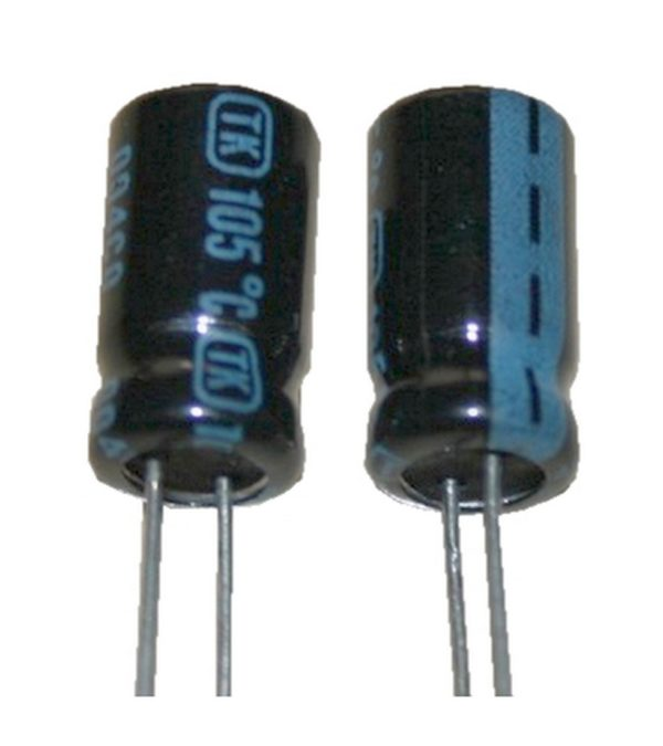 Elko Elektrolytkondensator Kondensator 47uF 25V 85°C 2 Stück (0090)