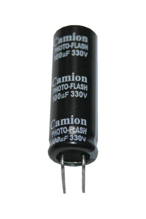Elko Elektrolytkondensator Kondensator Photo Flash 100uF 330V (0092)