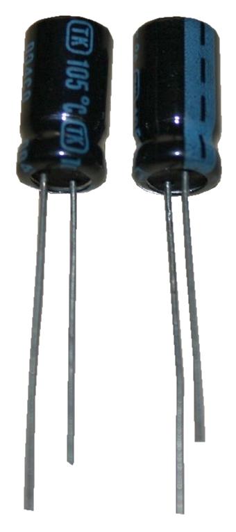 Elko Elektrolytkondensator 330uF 25V Low Impedanz 105°C 2 Stück (1006)