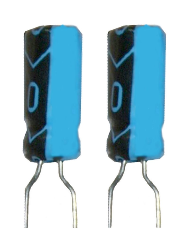 Elko Elektrolytkondensator Kondensator 3,3uF 50V 85°C 2 Stück (2002)