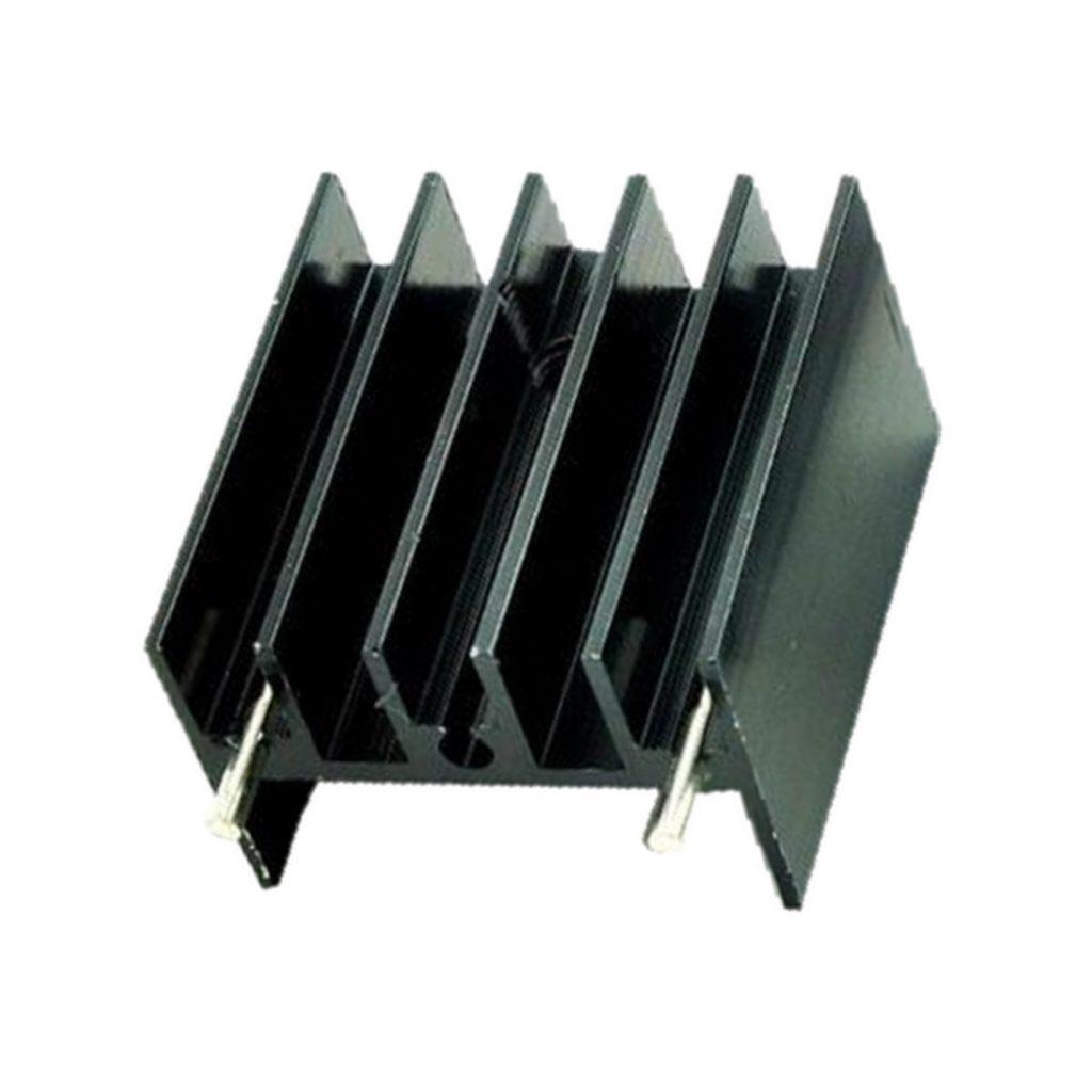 Kühlkörper Aluminium 15x10x20 mit Gewindeloch M3 schwarz (0053)