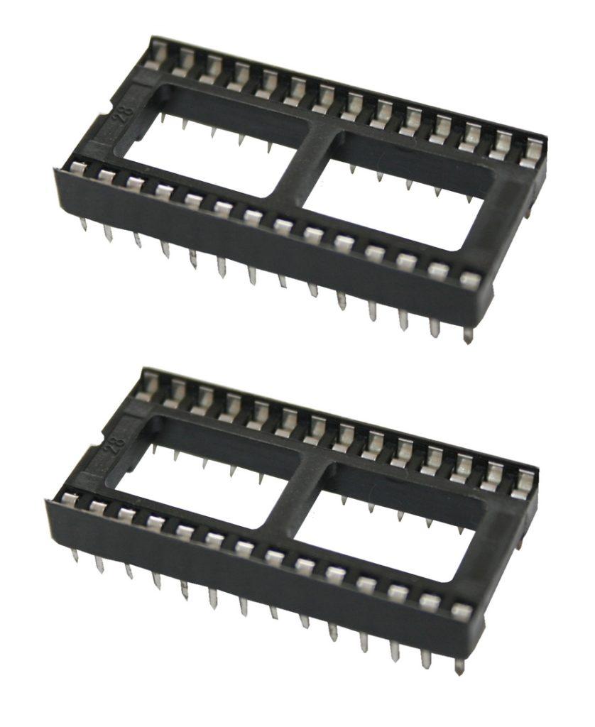 IC-Sockel IC-Fassung 28-polig DIP DIL28 2 Stück (0064)