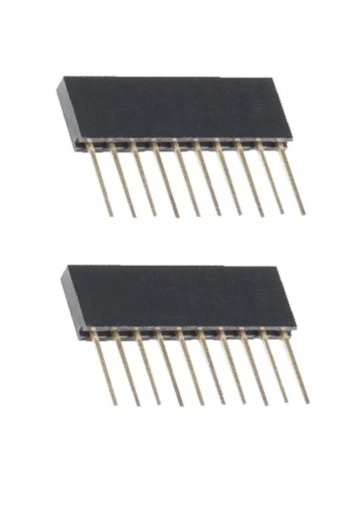 Buchsenleiste Arduino Header stapelbar extra lang 10-polig 2 Stück (0083)