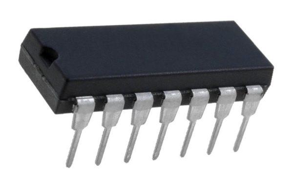 74HC10N 3 NAND-Gatter mit je 3 Eingängen DIP 14 (0109)