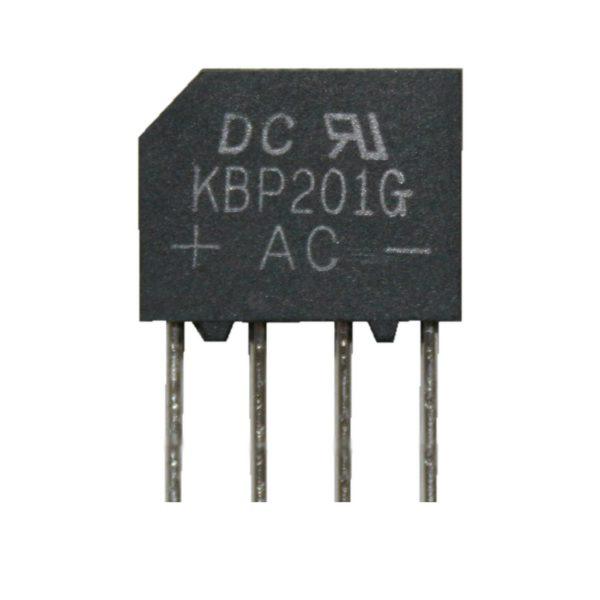 Brückengleichrichter Gleichrichter KBP201G 100V 2A (0014)