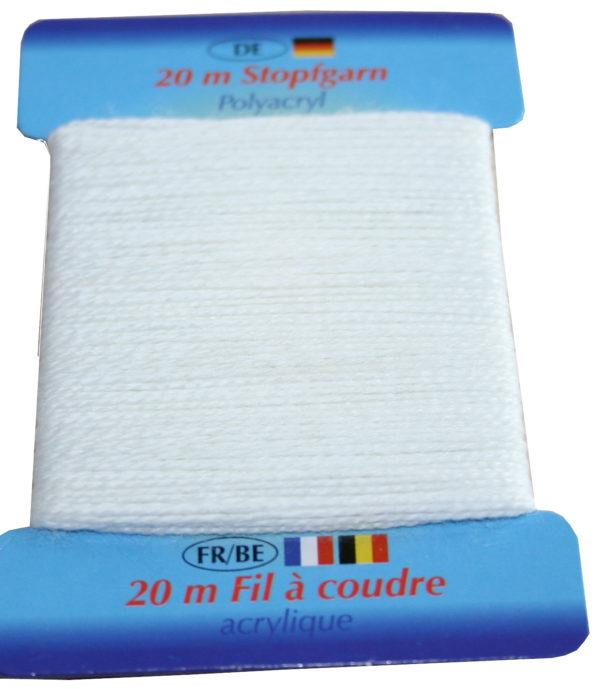 Stopfgarn Stopftwist Polyacryl Ne 10/2 20 m weiß (1000)