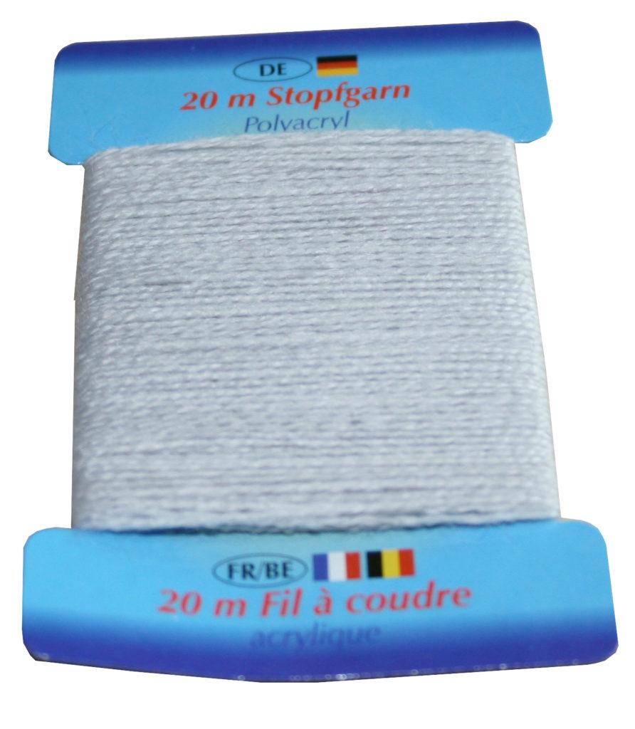Stopfgarn Stopftwist Polyacryl Ne 10/2 20 m hellgrau (1002)