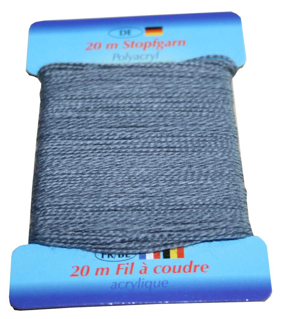 Stopfgarn Stopftwist Polyacryl Ne 10/2 20 m grau (1005)