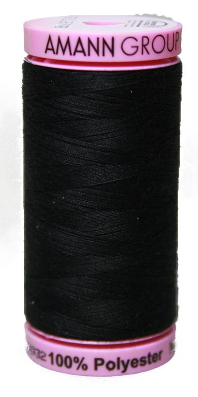 Zwirn 100 % Polyester ASPO PES 120 Amann schwarz 500 m (4000)