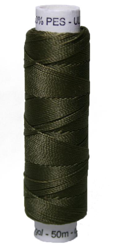 Sattlergarn Zwirn 50 m Polyester ULTRAPOLY 30 oliv khaki (0686)