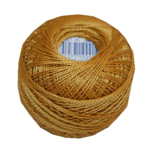 PERLOVKA Kreuzstichgarn Baumwolle Perlgarn 10g 85m Tex60*2 gelb zitrone 1642