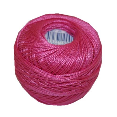 PERLOVKA Kreuzstichgarn Baumwolle Perlgarn 10g 85m pink Zyklame (3452)