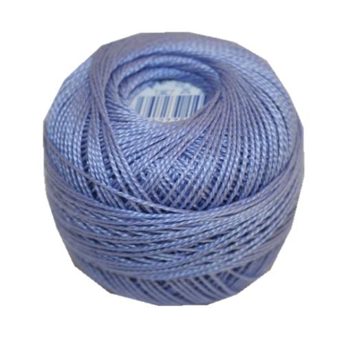 PERLOVKA Kreuzstichgarn Baumwolle Perlgarn 10g 85m blau violett (4552)