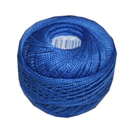 PERLOVKA Kreuzstichgarn Baumwolle Perlgarn 10g 85m blau (5482)
